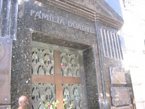 Das Grab der Evita.