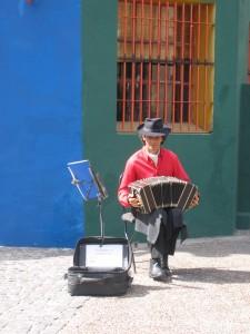 Musiker in La Boca.