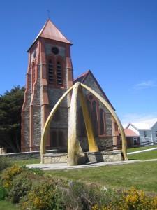 Die anglikanische Christ Church Cathedral in Port Stanley auf den Falklandinseln.