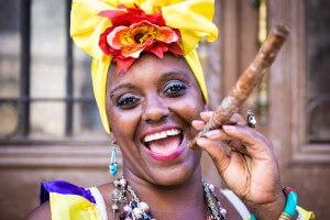 Cubana auf Kuba