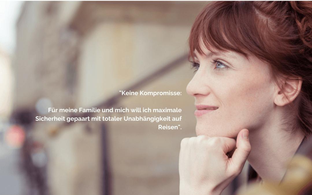Keine Kompromisse auf Reisen: Susanne weiß, was sie will.