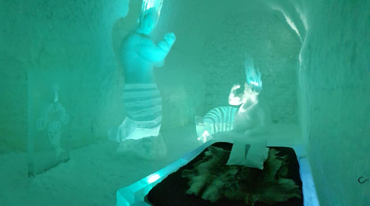 Eine Nacht bei -5 Grad in einer ArtSuite im ICEHOTEL Jukkasjärvi