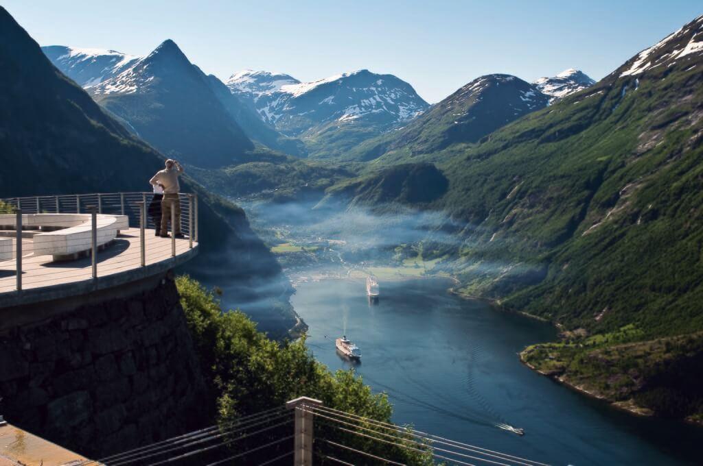 Aussichtspunkt am Geiranger Fjord