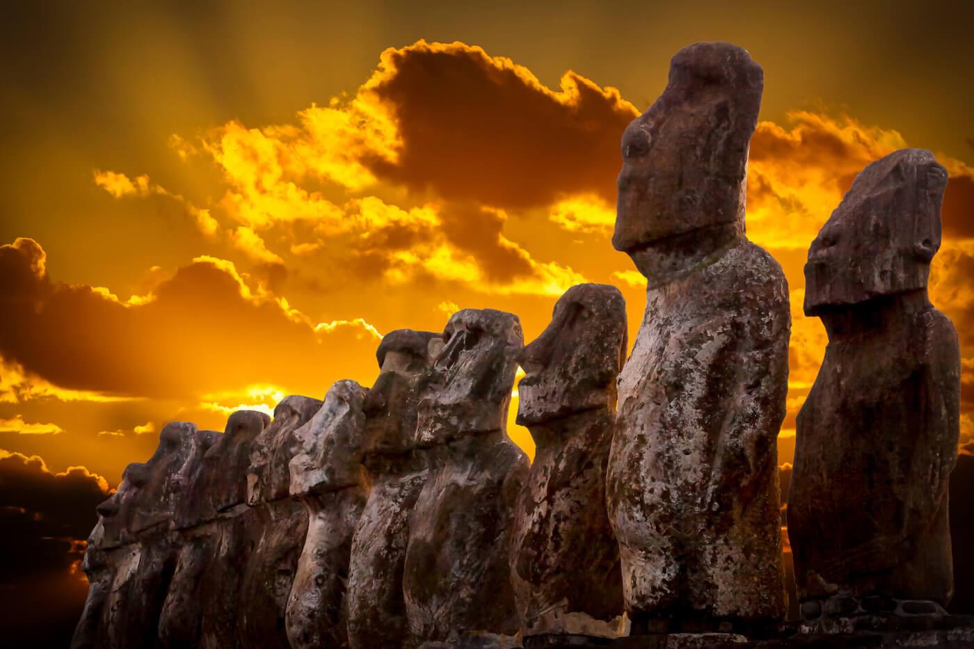 Moai auf der Osterinsel