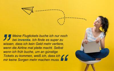 Exklusiv* an Bord bei inventia: Insolvenzschutz für Flugtickets