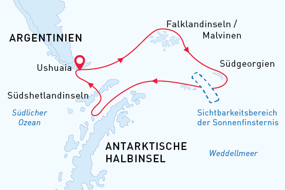 Sonnenfinsternis Sea Spirit Route