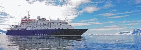 MS Hebridean Sky von Antarctica21 in der Antarktis