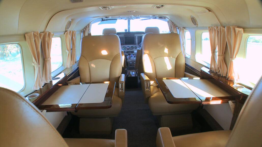 Flugzeug Cessna-Caravan innen