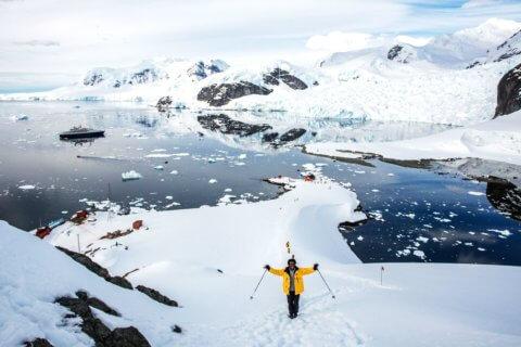 Schnee-Landschaft in der Antarktis