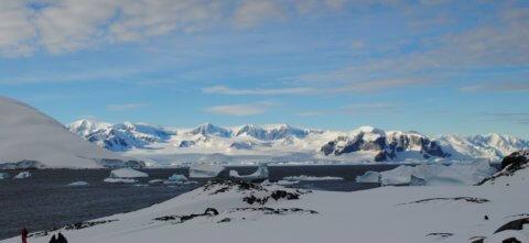 Landschaft der Antarktis und des Polarkreis