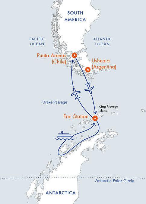 Skip the Drake – Per Flug bis in die Antarktis