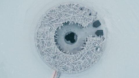 Arctic Bath Schweden aus der Vogelperspektive