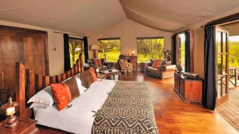 Blick ins Zelt - Elewana Serengeti Migration Camp, Tansania