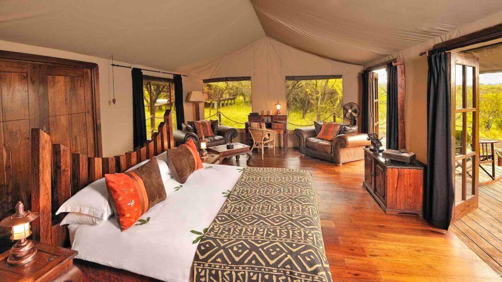 Innenansicht des Zeltes - Elewana Serengeti Migration Camp, Tansania