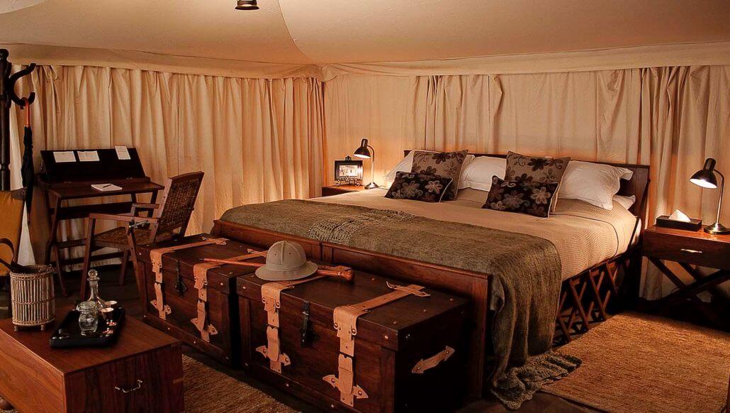 Innenansicht des Zeltes - Serengeti Pioneer Camp, Tansania