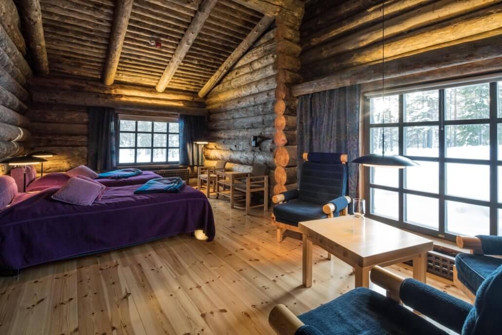 Luxury Lodge L7 in Finnland - Zimmeransicht