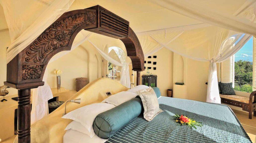 Schlafzimmer im Pavillon - Elewana Kilindi Sansibar, Tansania