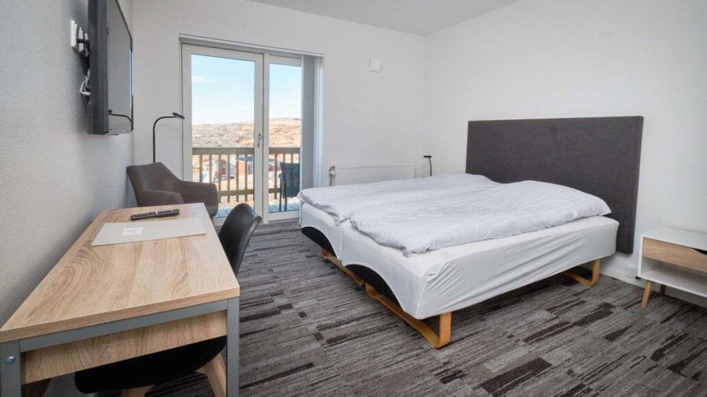 Schlafzimmer im Superior Appartement - Hotel Icefiord, Groenland