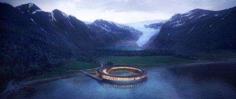 Svart - das erste 'energie-positive' Hotel der Welt mit 360°-Blick auf die arktische Natur