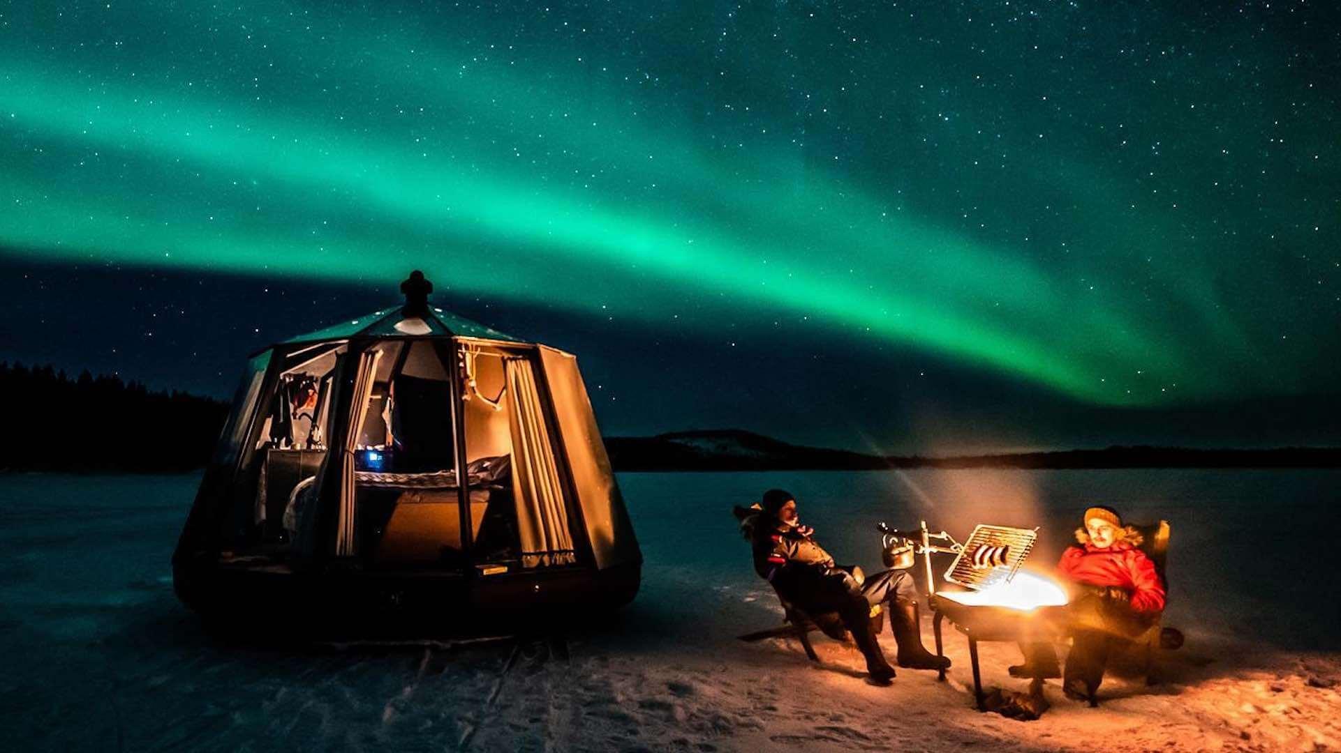 Aurorahut auf dem Ranua See - Arctic Guesthouse, Finnland