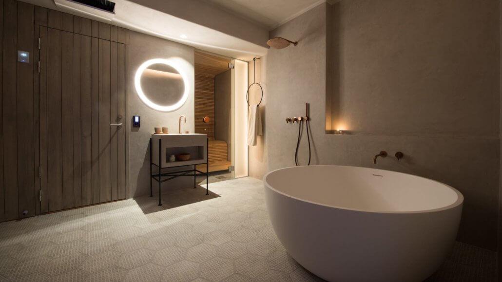 Badezimmer der Deluxe Suite 365 - ICEHOTEL, Schweden