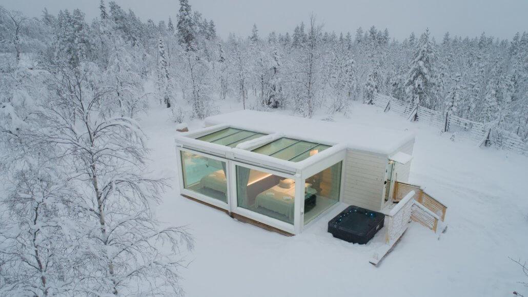 Northern Lights Ranch Finnland Doppel Cabin