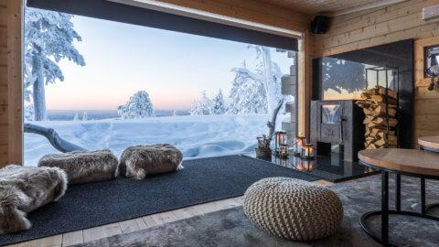 Octola Lodge in Finnland - Blick nach Draussen