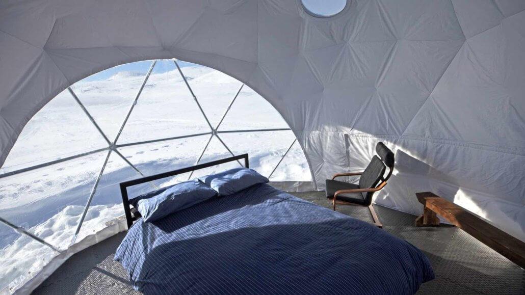 Private Zimmer in Iglu-Zelten - Basecamp Baffin Island, Kanada