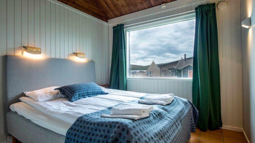 Schlafzimmer des Arctic Chalets - ICEHOTEL, Schweden
