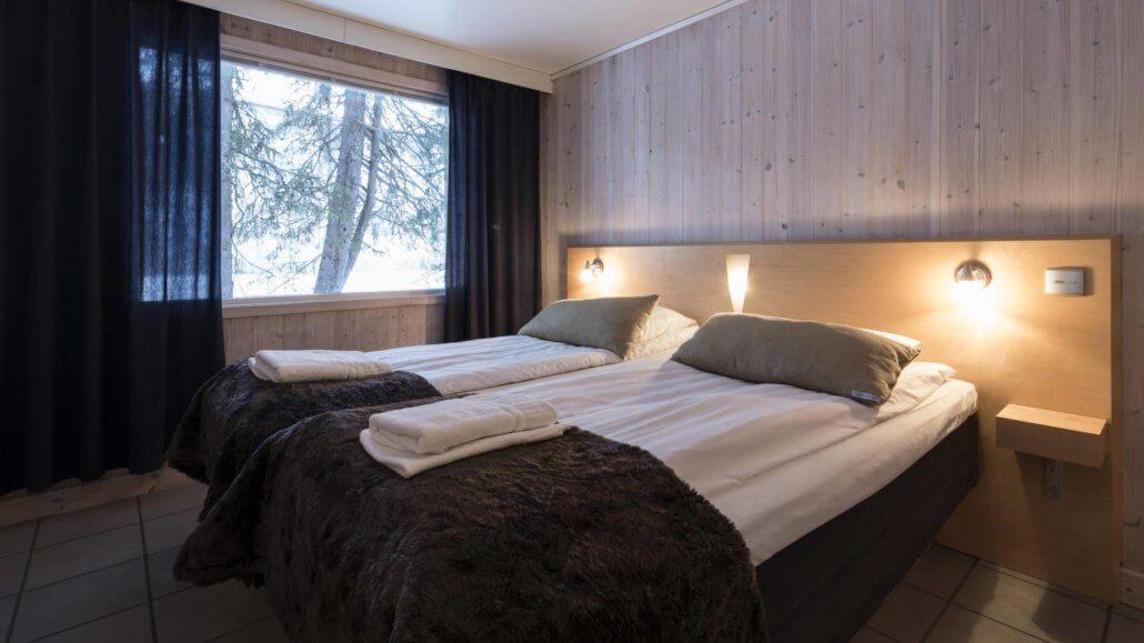 Schlafzimmer des Nordic Chalets - ICEHOTEL, Schweden