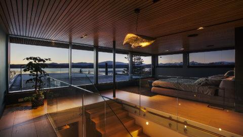 Villa Telegrafbukta Norwegen Tromso Blick nach draussen