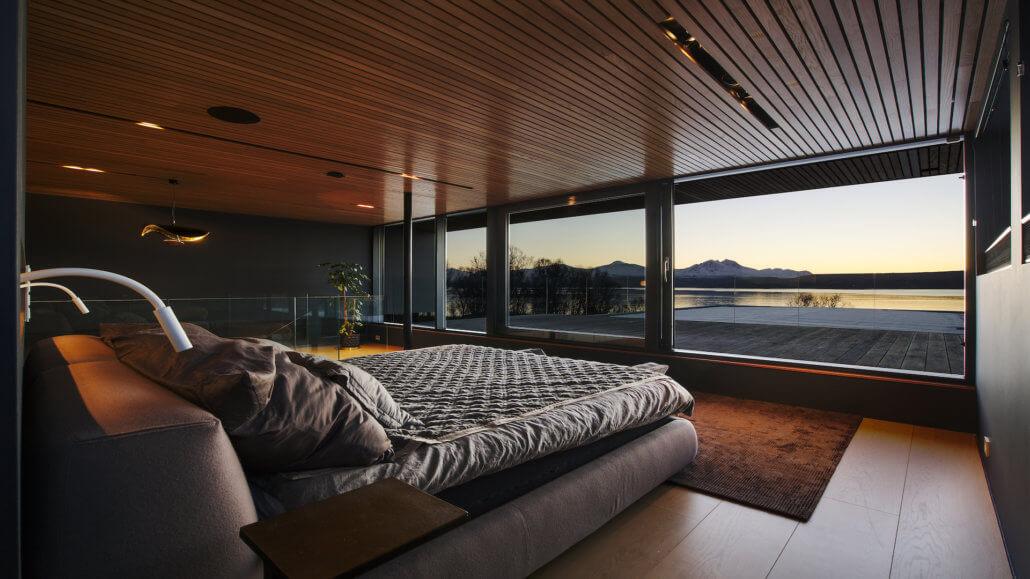 Villa Telegrafbukta Norwegen Tromso Schlafzimmer