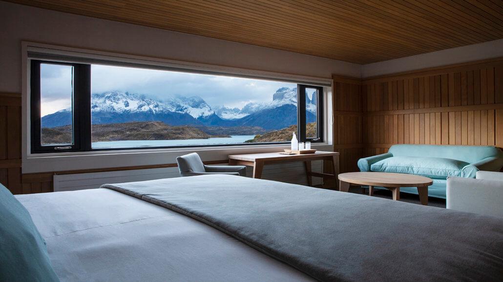 Explora Hotel Patagonia Chile - Zimmer mit Ausblick