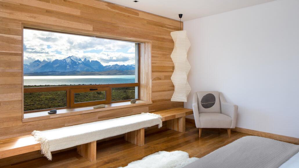 Hotel Tierra Patagonia Blick aus dem Zimmer