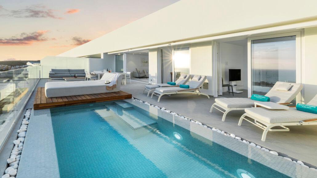 Royal Hideaway Corales Suites Teneriffa - Presidential Penthouse Suite mit 3 Schlafzimmern und Pool
