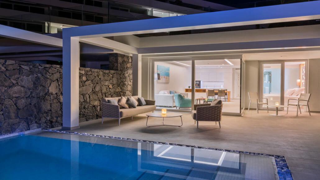 Royal Hideaway Corales Suites Teneriffa - Villa Suite mit 1 Schlafzimmer und Pool