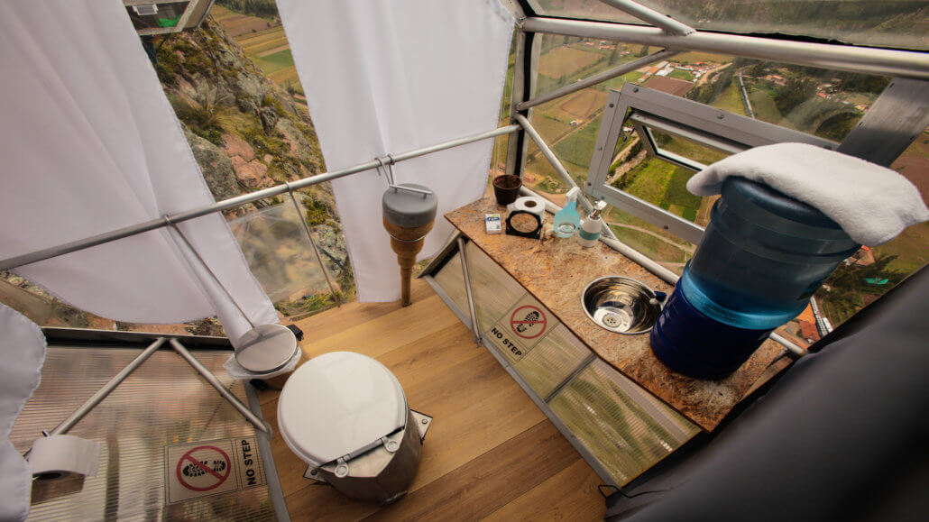 Skylodge Adventure Suites Peru - Badezimmer