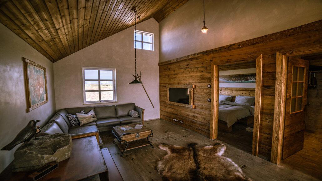 Torfhus Retreat in Island - Wohnzimmer