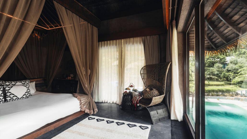 Keemala Resort, Phuket, Thailand - Clay Pool Cottages - Innenraum