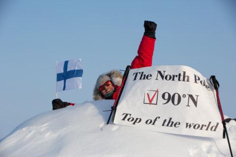Nordpol Barneo Camp - das Erreichen des Nordpol feiern