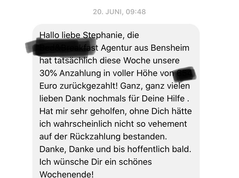 Feedback Sabine Beulich