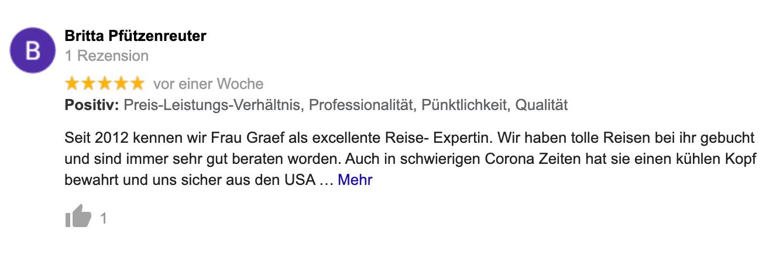 Feedback Britta Pfützenreuter