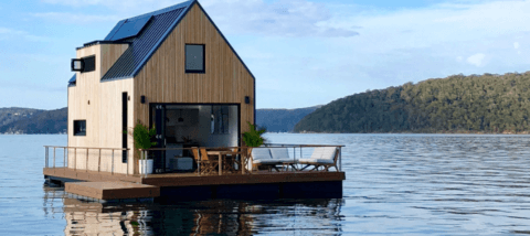 Tiny Hausboot-Villa Seerose